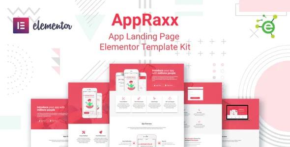 Best App Landing Page Elementor Template Kit