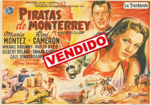 Piratas de Monterrey - Programa de Cine - Maria Montez - Rod Cameron