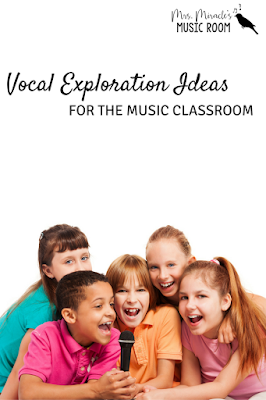 Vocal exploration ideas for the music classroom: A picture book, a free animated Powerpoint, and finger puppets that work well, especially around Halloween!