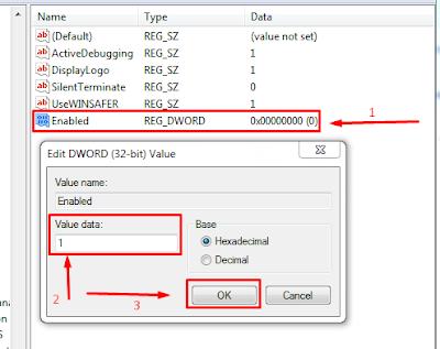 HKEY_LOCAL_MACHINE, SOFTWARE, Microsoft, Windows Script Host, Settings - редактиране на файл