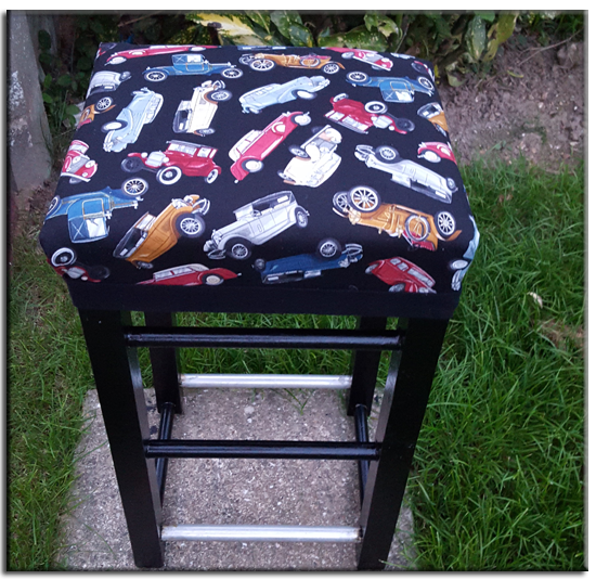 No longer a tatty old stool but a lovely recycled one