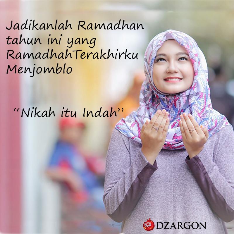 meme meme lucu bulan ramadhan cewek igo manis pakai Hijab dan manis