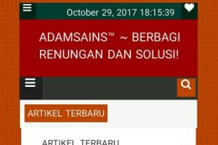 Membedah Blog Adamsains Dot Us