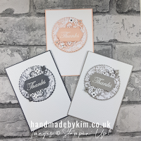 Peony Garden DSP Thank You Cards Trio Stampin' Up! Supply List