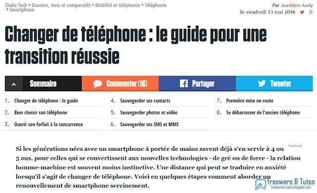Le site du jour : Guide pour changer facilement de téléphone
