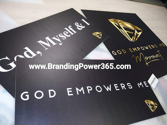 "Custom Foam Boards for Yariana's ""God Empowers Me"" Movement in Miami, Florida (www.BrandingPower365.com)"