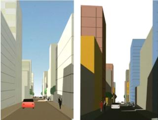 Modèle d'urbanisme post moderne de Christian de Portzamparc