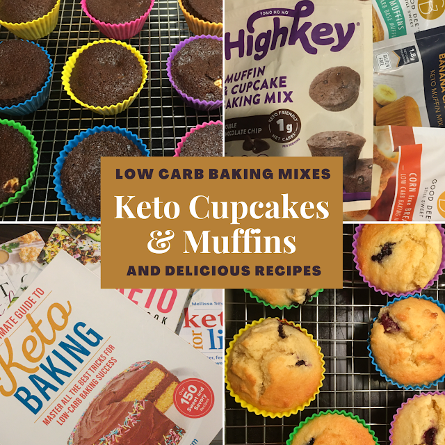 Keto Cupcakes & Muffins main image - text over photo collage