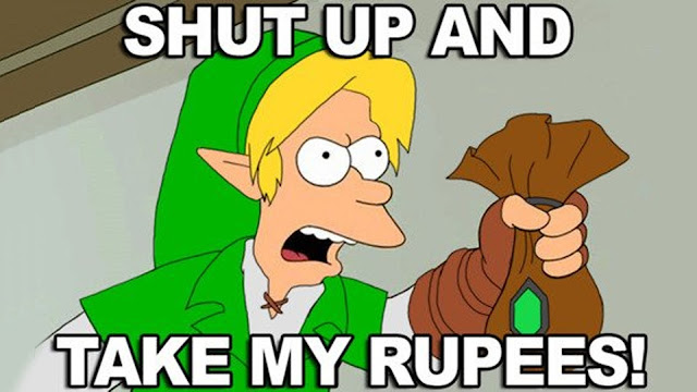 shut up and take my money link the legend of zelda