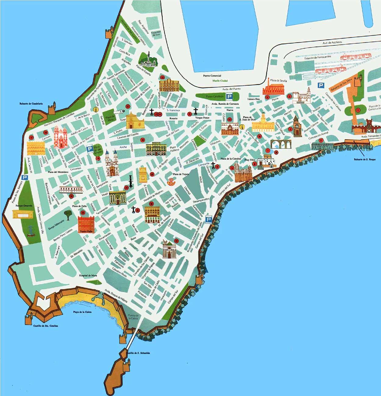 Map Of Spain Cadiz.Cadiz Tourism Map Regional Map Of Spain Tourism Region And Topography