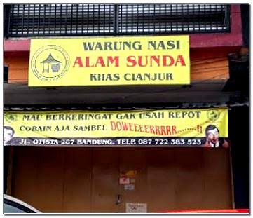 Warung Nasi Alam Sunda di Bandung