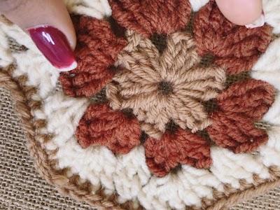 Motivo en crochet # 7 paso a paso