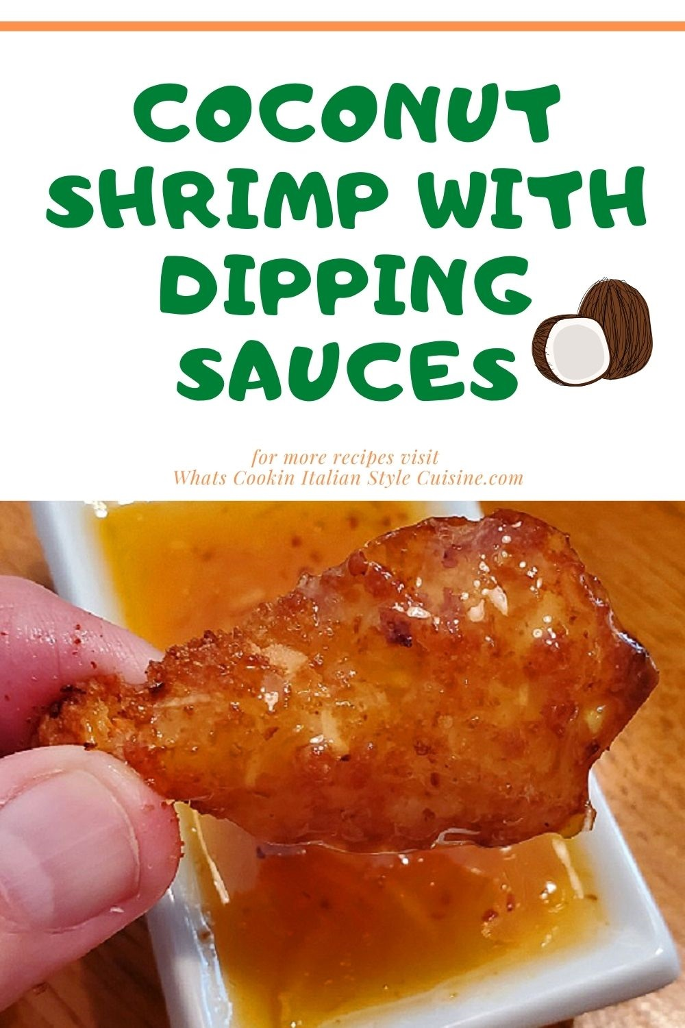 this is a pin for later on how to make coconut shrimp
