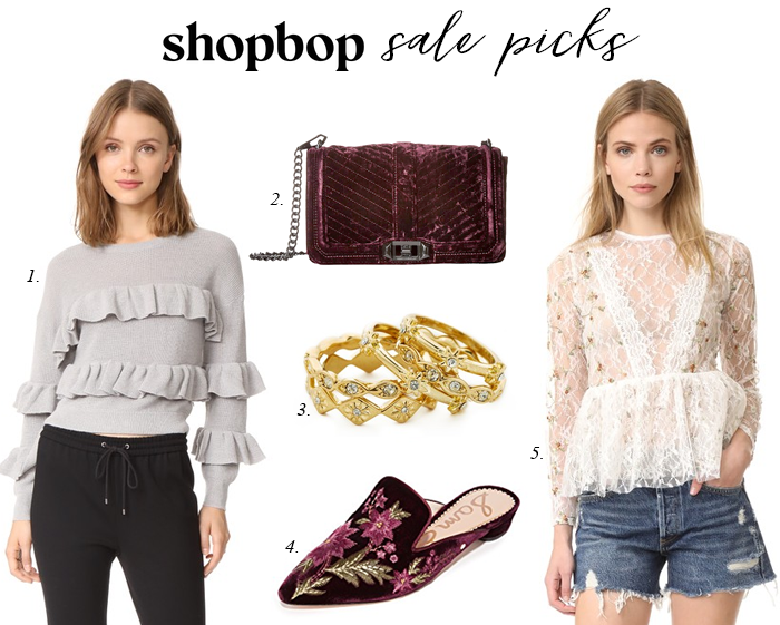 fall shopbop sale rebecca minkoff velvet bag