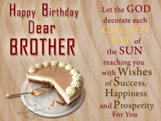 birthday wishes for brother images - dear brother cake slice