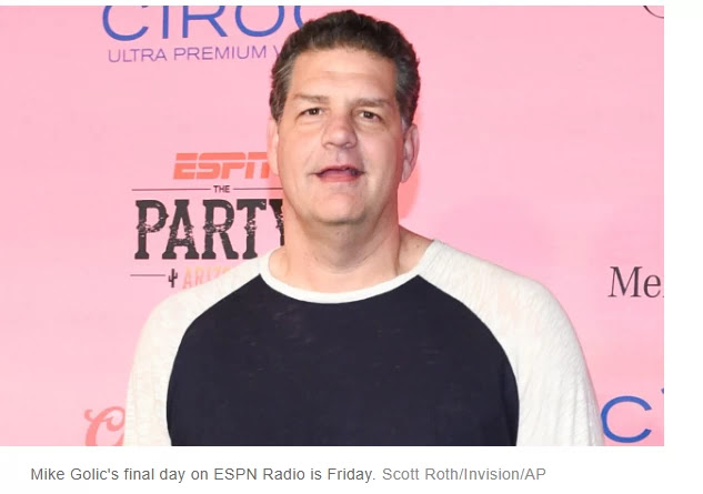 Mike Golic says he heard his ESPN Radio run was once ending