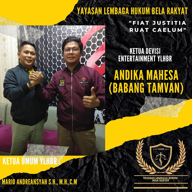 Babang Tamvan Resmi Jadi Ketua Divisi Entertainment YLHBR