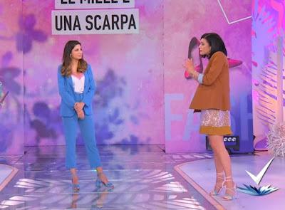 Martina Pascutti e bianca Guaccero abbigliamento detto Fatto 6 aprile