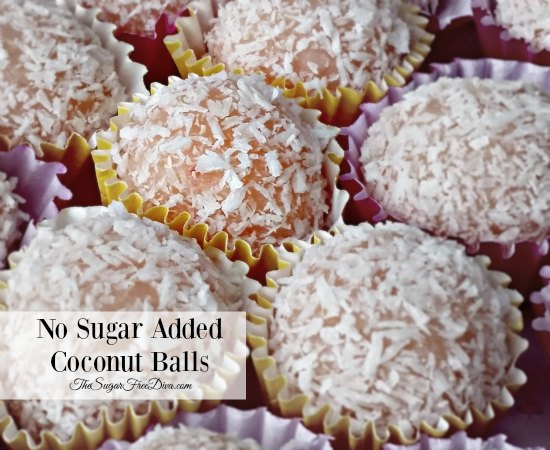No Sugar Added Coconut Balls