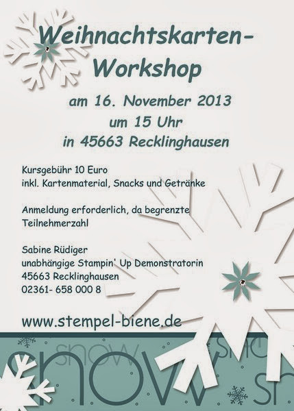 Stempel-Biene Stampin up Weihnachtskarten-Workshop