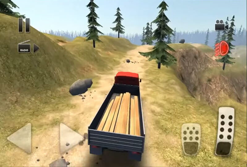 لعبة Truck Driver Steep Road