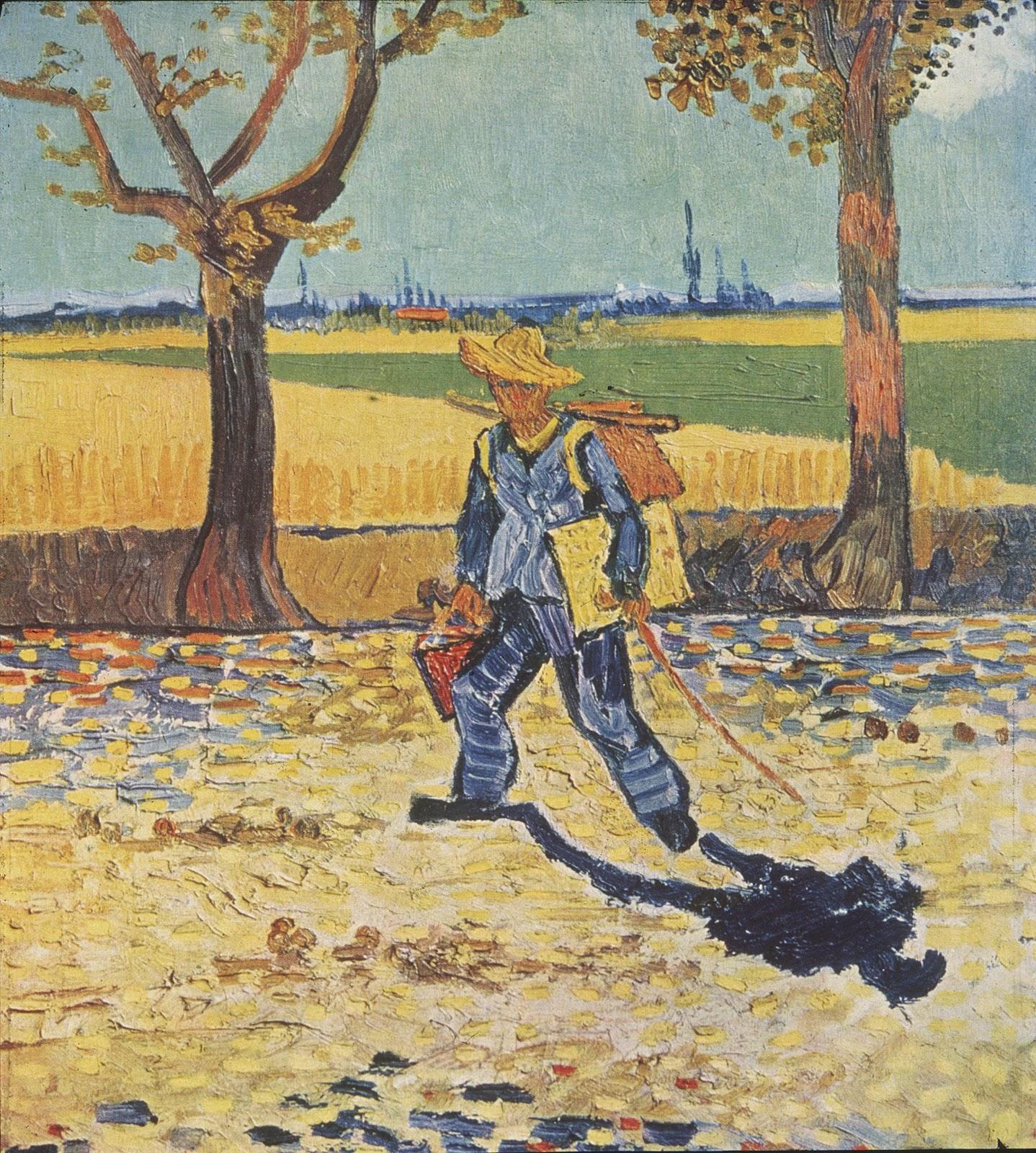 ヴィンセント・ヴァン・ゴッホのタラスコンへの道を行く画家(仕事へ向かう途中の画家)