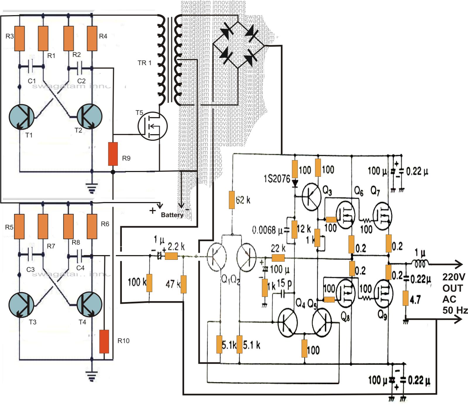 grid tie inverter circuit diagram 6 way horse trailer wiring making a 200 watt compact pwm using