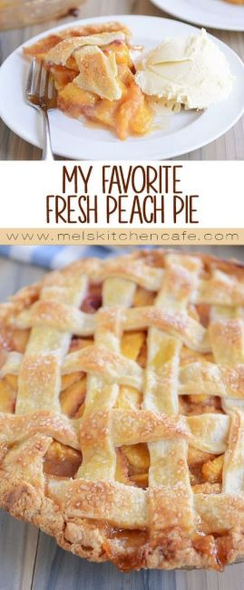 My Favorite Fresh Peach Pie
