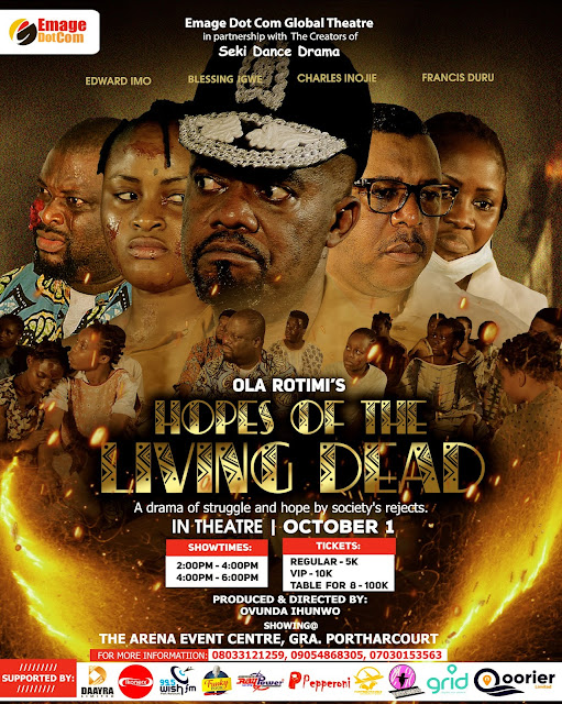 Hopes of the living dead in theatre October 1 2021 at THE ARENA EVENT CENTER