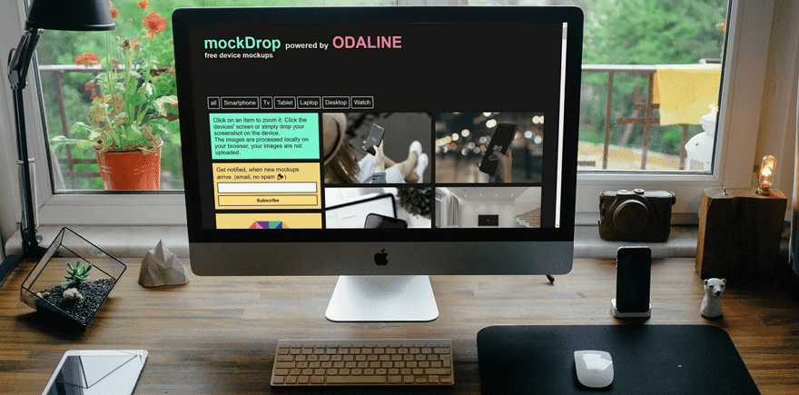 MockDrop 快速產生手機、電腦的使用情境圖