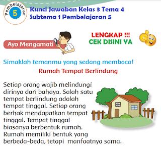Kunci Jawaban Kelas 3 Tema 4 Subtema 1 Pembelajaran 5 www.simplenews.me