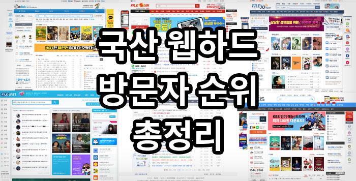 국산 웹하드 방문자 순위 총정리