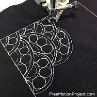 Rings in Rings machine quilting design and free video tutorial by Leah Day