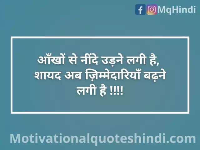 Responsibility Status In Hindi