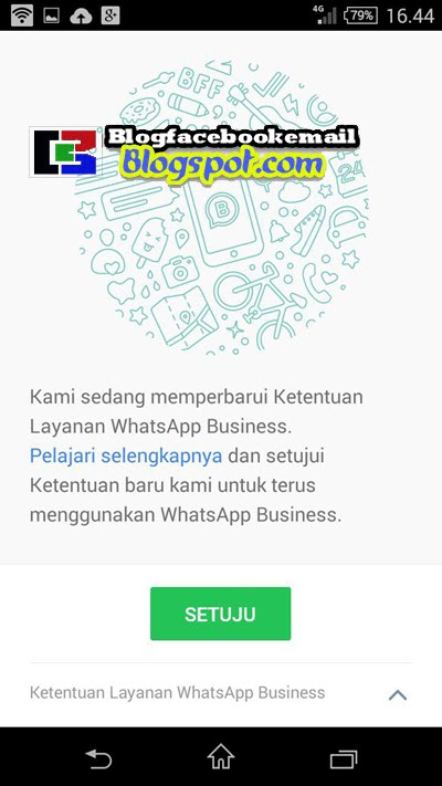 menyetujui whatsapp