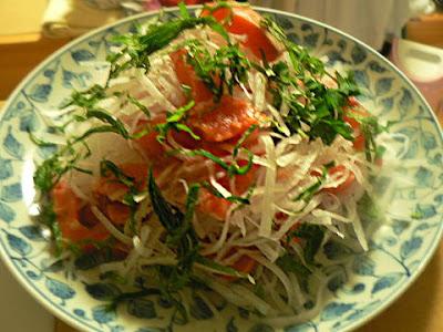 大根とサーモンのサラダ