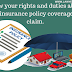 Insurance policy coverage aur claim ke bare mein apne rights aur duties ko jane. (Know your rights and duties about your insurance policy coverage and claim.)