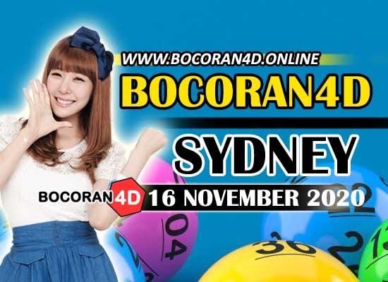 Bocoran Togel 4D Sydney 16 November 2020