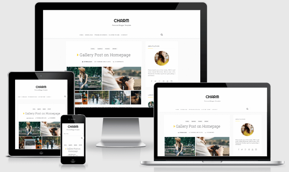 Download Charm Personal Responsive Blogger Template