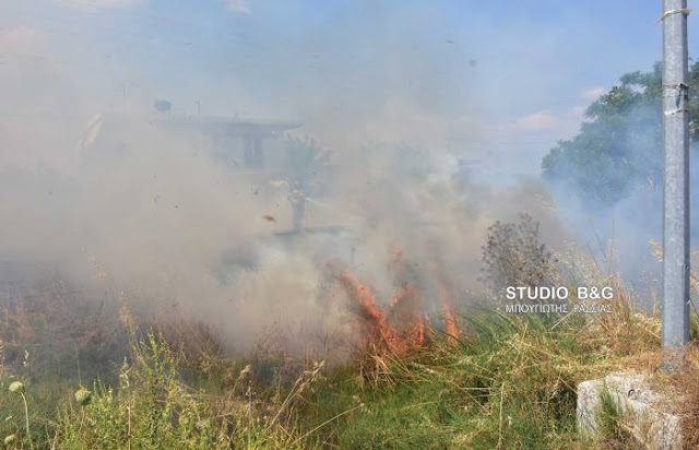 Φωτιά εκδηλώθηκε στη Νέα Κίο Αργολίδας