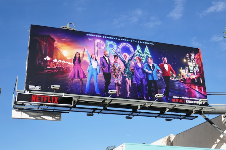Prom Netflix film billboard