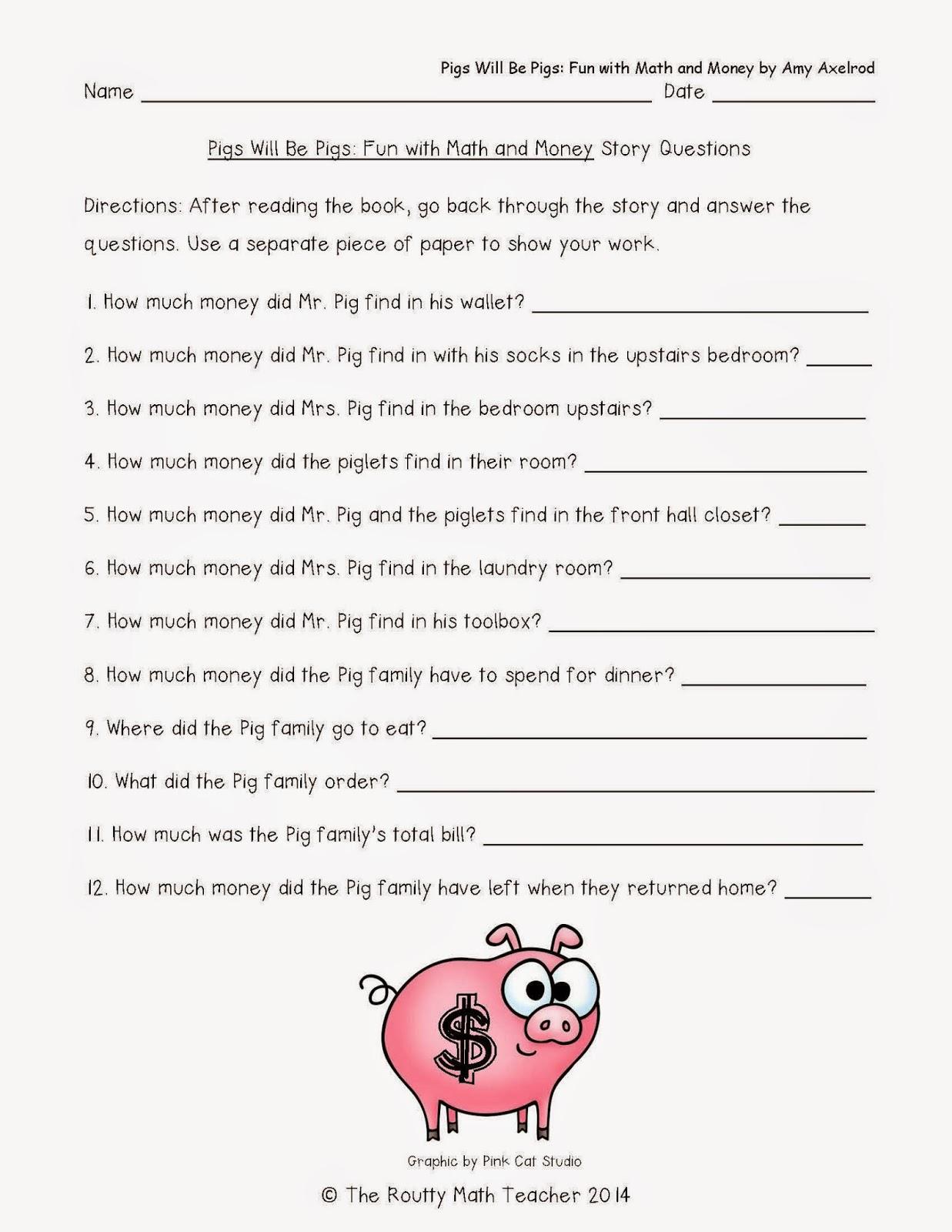 Fine What Do You Call A Pirate Pig Math Worksheet Frieze - Worksheet ...