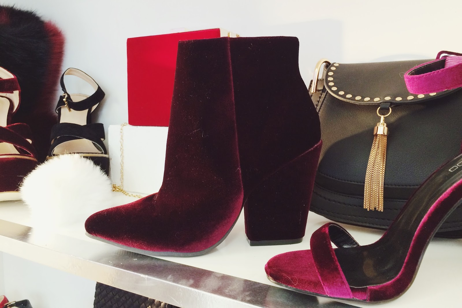 boohoo.com Christmas Collections Preview, velvet shoes