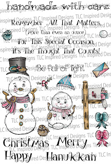 Fun for the holidays, TLCDesigns.shop has the Snow Family Fun Mail digital stamping set available now