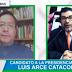Arce comenta en TV encuestas de su partido y adversarios piden cancelación de su candidatura