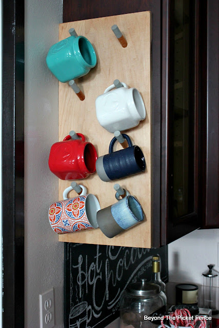 make an urban industrial style mug rack