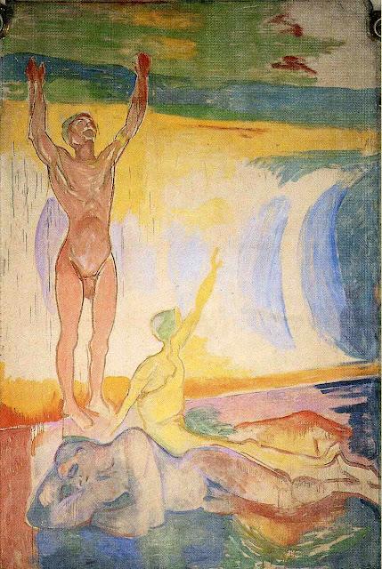 Эдвард Мунк - Пробуждение человека. 1916