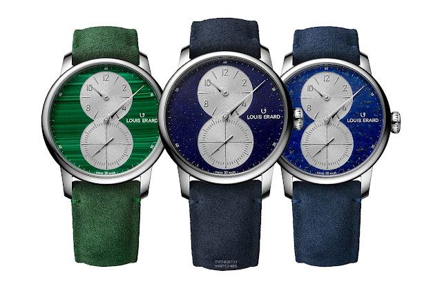 Louis Erard Excellence Régulateur in Aventurine, Lapis-Lazuli and Malachite