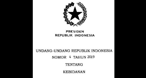 UU Nomor 4 Tahun 2019 Tentang Kebidanan