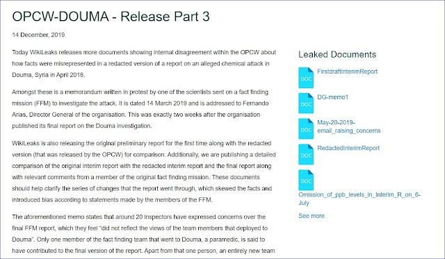 OPCW-DOUMA - Release Part 3 - WIKILEAKS RELEASE